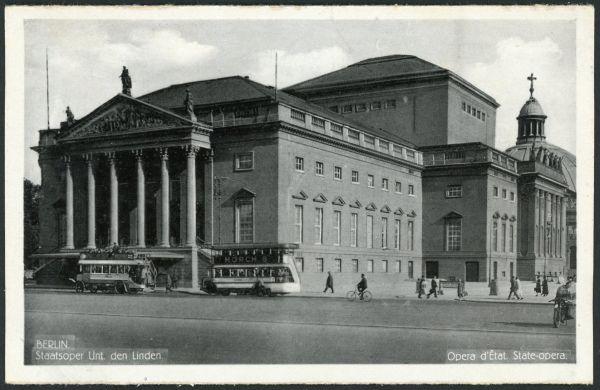 Berlin Staatsoper Unter den Linden