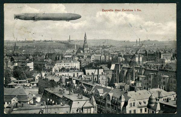 Zwickau Zeppelin über Zw.