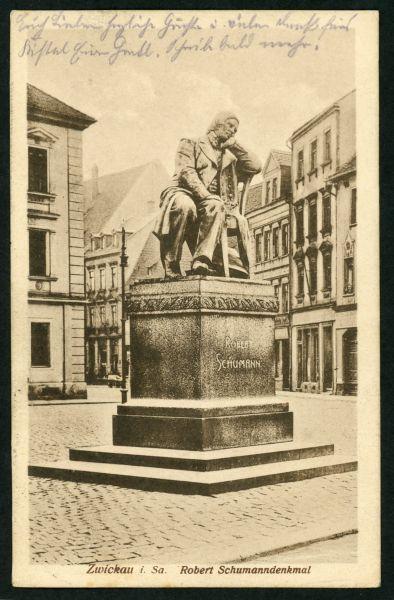 Zwickau Robert-Schumann-Denkmal