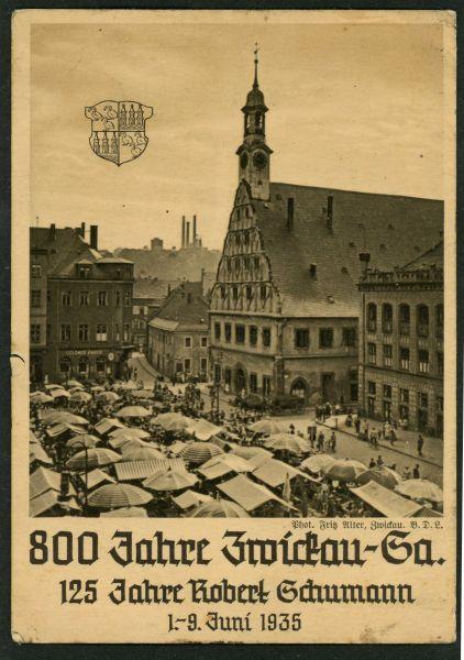 Zwickau Hauptmarkt und Gewandhaus
